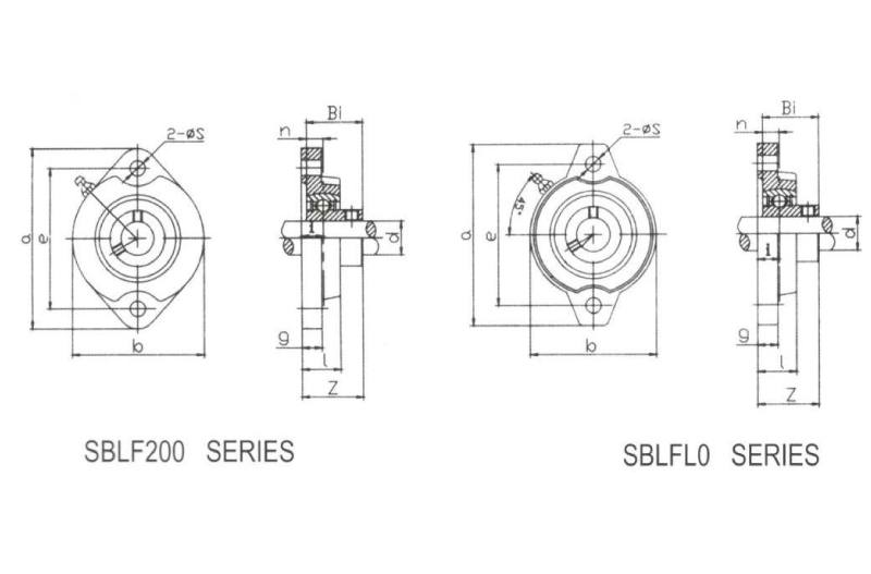 Two-Bolt Flange SBLF201