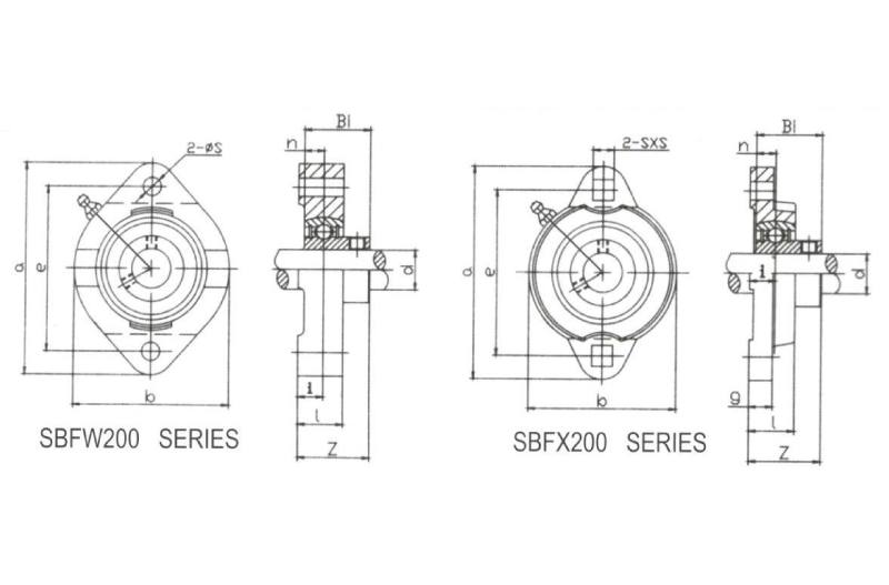 Two-Bolt Flange SBFW201