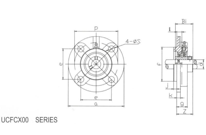 Flange Cartridge UCFCX05