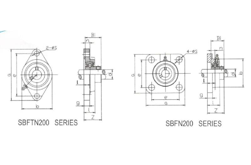 Two Or Four Bolt Flange SBFTN201