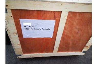 Sent 14 pallets of goods to our Australian customers
